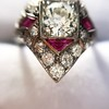 2.41ctw Art Deco Diamond and Ruby Dinner Ring GIA J SI1 20