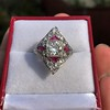 2.41ctw Art Deco Diamond and Ruby Dinner Ring GIA J SI1 15