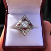 2.41ctw Art Deco Diamond and Ruby Dinner Ring GIA J SI1 26