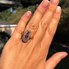 2.45ctw Victorian Diamond and Sapphire Oval Cluster Dinner Ring 37