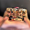 2.45ctw Victorian Diamond and Sapphire Oval Cluster Dinner Ring 23