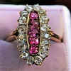 2.45ctw Victorian Diamond and Sapphire Oval Cluster Dinner Ring 13