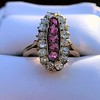 2.45ctw Victorian Diamond and Sapphire Oval Cluster Dinner Ring 43