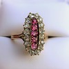 2.45ctw Victorian Diamond and Sapphire Oval Cluster Dinner Ring 33