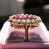 2.45ctw Victorian Diamond and Sapphire Oval Cluster Dinner Ring 31