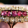 2.45ctw Victorian Diamond and Sapphire Oval Cluster Dinner Ring 26