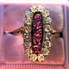 2.45ctw Victorian Diamond and Sapphire Oval Cluster Dinner Ring 27