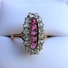 2.45ctw Victorian Diamond and Sapphire Oval Cluster Dinner Ring 42
