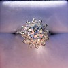 2.87ctw old European Cut Diamond Spray Ring 7