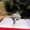 2.87ctw old European Cut Diamond Spray Ring 4