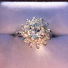 2.87ctw old European Cut Diamond Spray Ring 8