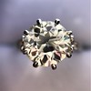 2.63ct Old European Cut Diamond Solitaire, GIA K VS2 34