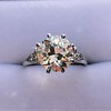 2.63ct Old European Cut Diamond Solitaire, GIA K VS2 40
