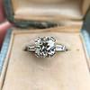2.73ct Old European Cut Diamond Diamond Ring, AGS M VS2 0