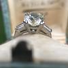 2.73ct Old European Cut Diamond Diamond Ring, AGS M VS2 2