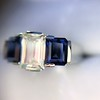 2.83ctw Vintage Emerald Diamond and Sapphire Trilogy Ring 28