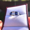 2.83ctw Vintage Emerald Diamond and Sapphire Trilogy Ring 22