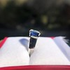 2.83ctw Vintage Emerald Diamond and Sapphire Trilogy Ring 8
