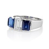 2.83ctw Vintage Emerald Diamond and Sapphire Trilogy Ring 1