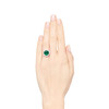 2.85ct Colombian Emerald and Diamond Spray Ring 3