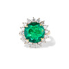 2.85ct Colombian Emerald and Diamond Spray Ring 0
