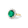 2.85ct Colombian Emerald and Diamond Spray Ring 1