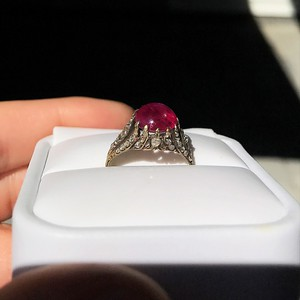 2.86ct Victorian Burmese Ruby Ring (No heat, with AGL cert)