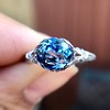 2.90ct Antique Sapphire Solitaire 8