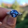 2.90ct Antique Sapphire Solitaire 24