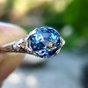 2.90ct Antique Sapphire Solitaire 21