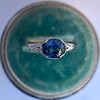 2.90ct Antique Sapphire Solitaire 33