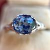 2.90ct Antique Sapphire Solitaire 9