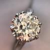 2.91ct Old European Cut Diamond Art Deco Ring GIA L VS 25