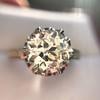 2.91ct Old European Cut Diamond Art Deco Ring GIA L VS 14