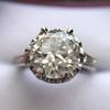 2.91ct Old European Cut Diamond Art Deco Ring GIA L VS 29