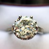 2.91ct Old European Cut Diamond Art Deco Ring GIA L VS