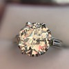 2.91ct Old European Cut Diamond Art Deco Ring GIA L VS 13