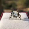 2.91ct Old European Cut Diamond Art Deco Ring GIA L VS 20
