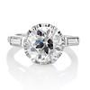 2.91ct Old European Cut Diamond Art Deco Ring GIA L VS 0