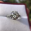 2.91ct Old European Cut Diamond Art Deco Ring GIA L VS 19