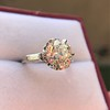 2.91ct Old European Cut Diamond Art Deco Ring GIA L VS 6