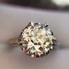 2.91ct Old European Cut Diamond Art Deco Ring GIA L VS 12