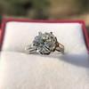 2.91ct Old European Cut Diamond Art Deco Ring GIA L VS 21