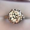 2.91ct Old European Cut Diamond Art Deco Ring GIA L VS 11