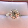 2.91ct Old European Cut Diamond Art Deco Ring GIA L VS 22