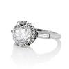 2.91ct Old European Cut Diamond Art Deco Ring GIA L VS 1