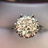 2.91ct Old European Cut Diamond Art Deco Ring GIA L VS 28