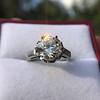 2.91ct Old European Cut Diamond Art Deco Ring GIA L VS 17