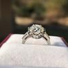 2.91ct Old European Cut Diamond Art Deco Ring GIA L VS 7