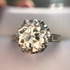 2.91ct Old European Cut Diamond Art Deco Ring GIA L VS 15